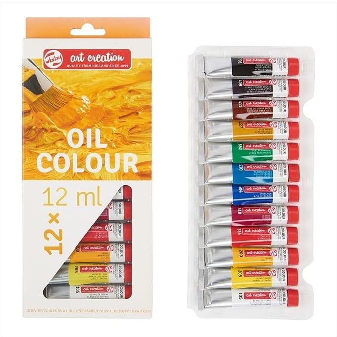 Set colori ad olio