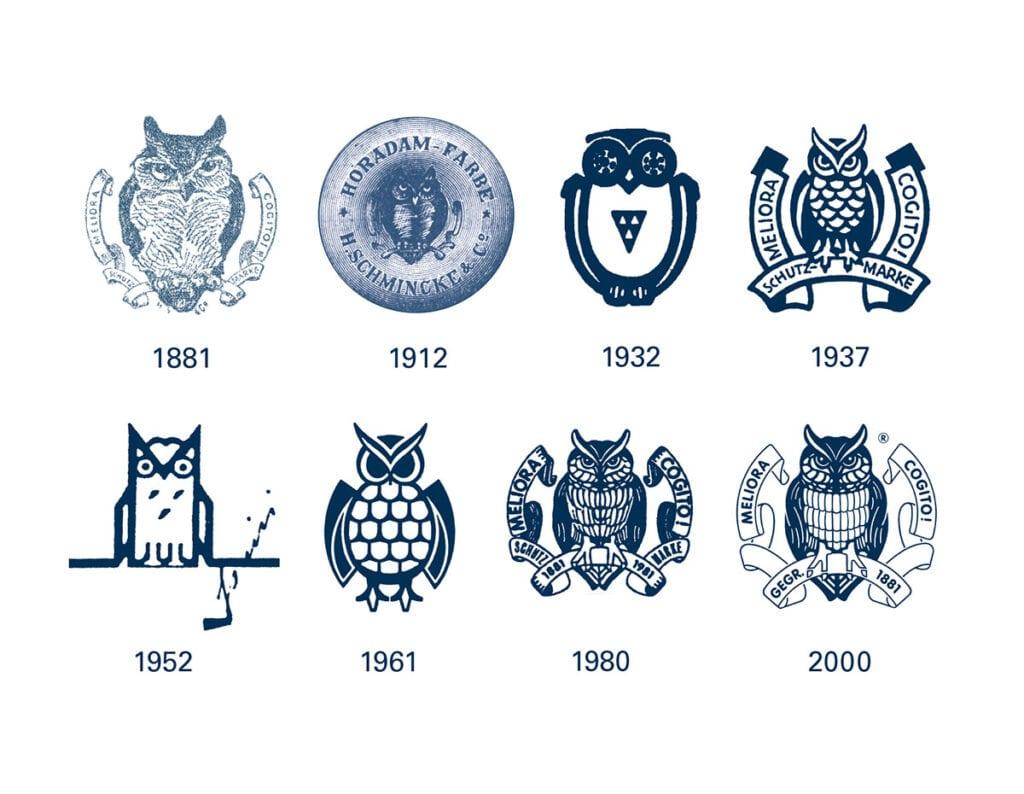 La storia del marchio Schmincke e il cambiamento del design.