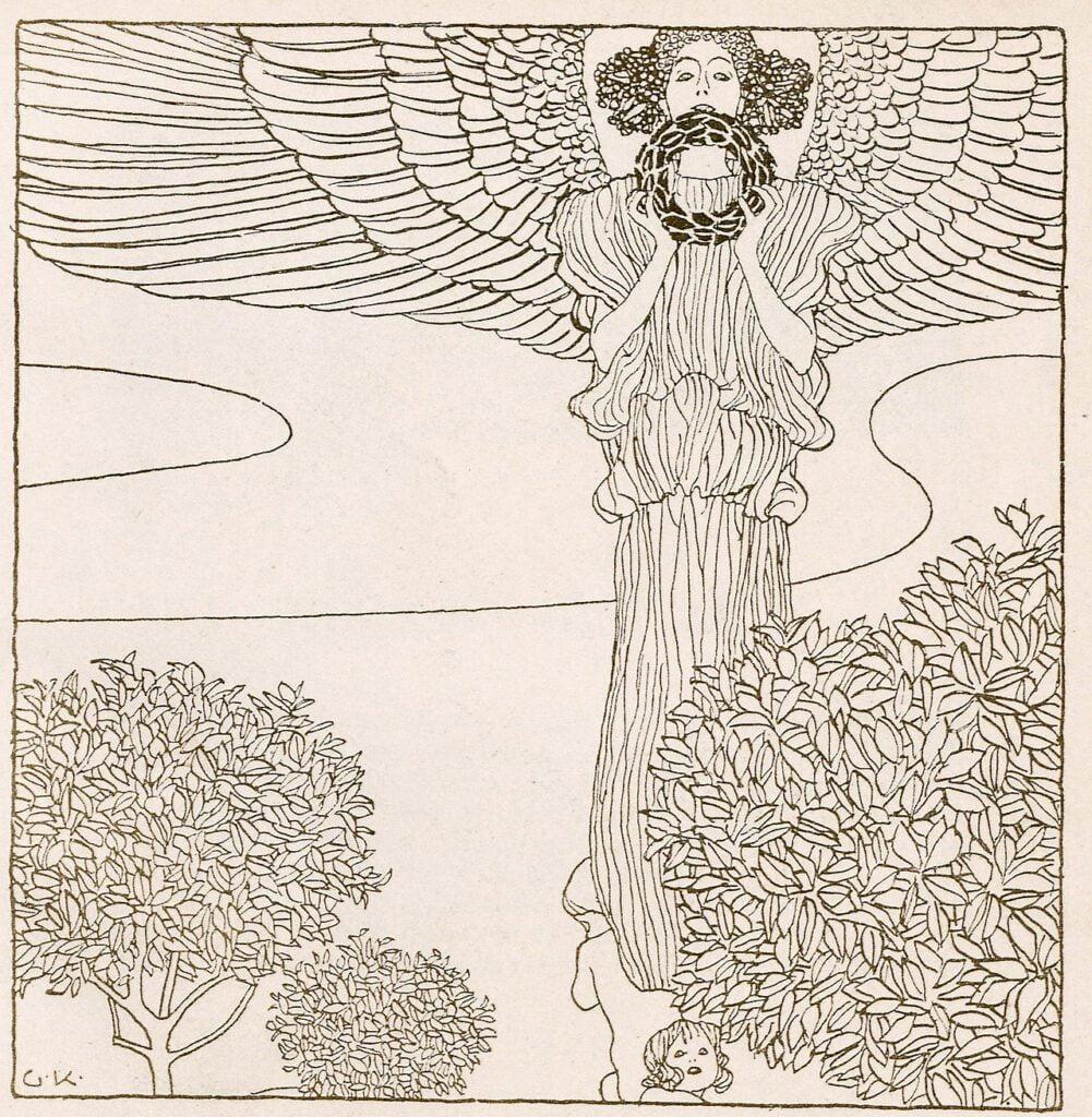 La donna nuda con lo specchio per la copertina di Ver Sacrum.